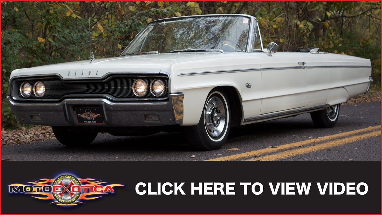 1966 Dodge Polara Convertible (SOLD) - YouTube