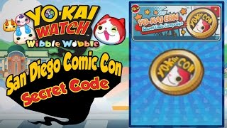 Yo-Kai Watch Wibble Wobble - Yo-Kai Con Coin SECRET CODE From SDCC 2016! [iOS Android Gameplay]