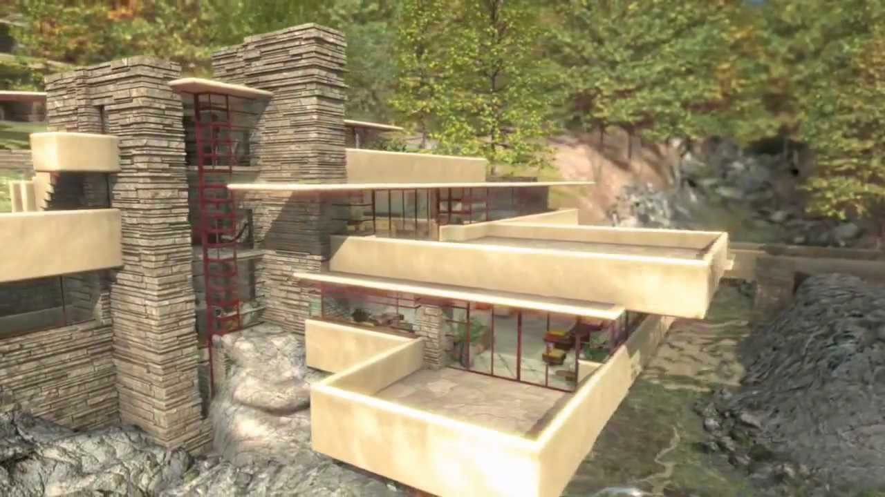 Frank lloyd wright fallingwater la casa sulla cascata for Frank lloyd wright piani casa della prateria