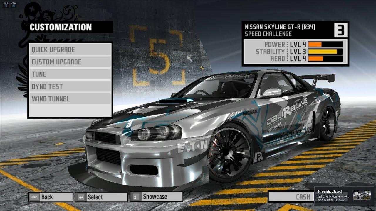 Nissan Skyline R34 GTR Speed Blueprint, Upgrades, Tuning, Wind ...