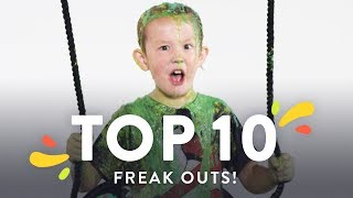 Top 10 Kids Try Freakouts! | Kids Try | HiHo Kids