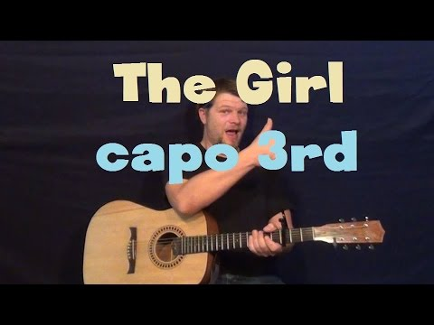 The Girl (City and Colour) Guitar Lesson How to Play Tutorial Capo 3rd Fret Fingerstyle