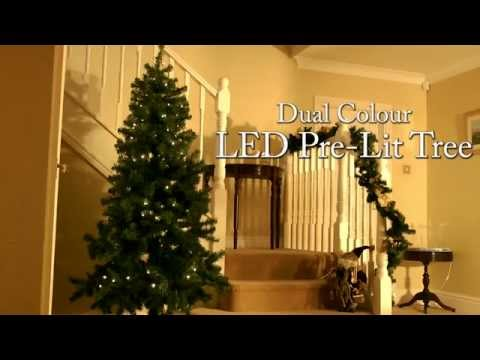 Dual Colour Pre Lit LED Christmas Tree