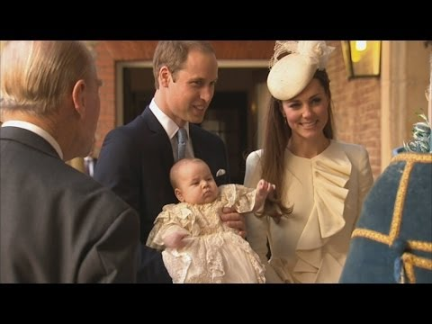 Prince George christening: Duke and Duchess of Cambridge arrive with Prince George
