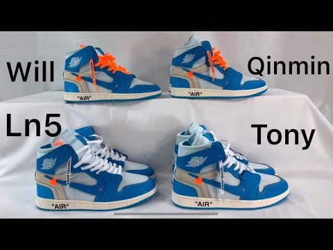 OFF-White Jordan 1 UNC - 4 Different Sellers Compared