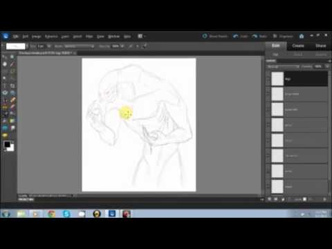 Drawing A Detailed Elite part 1