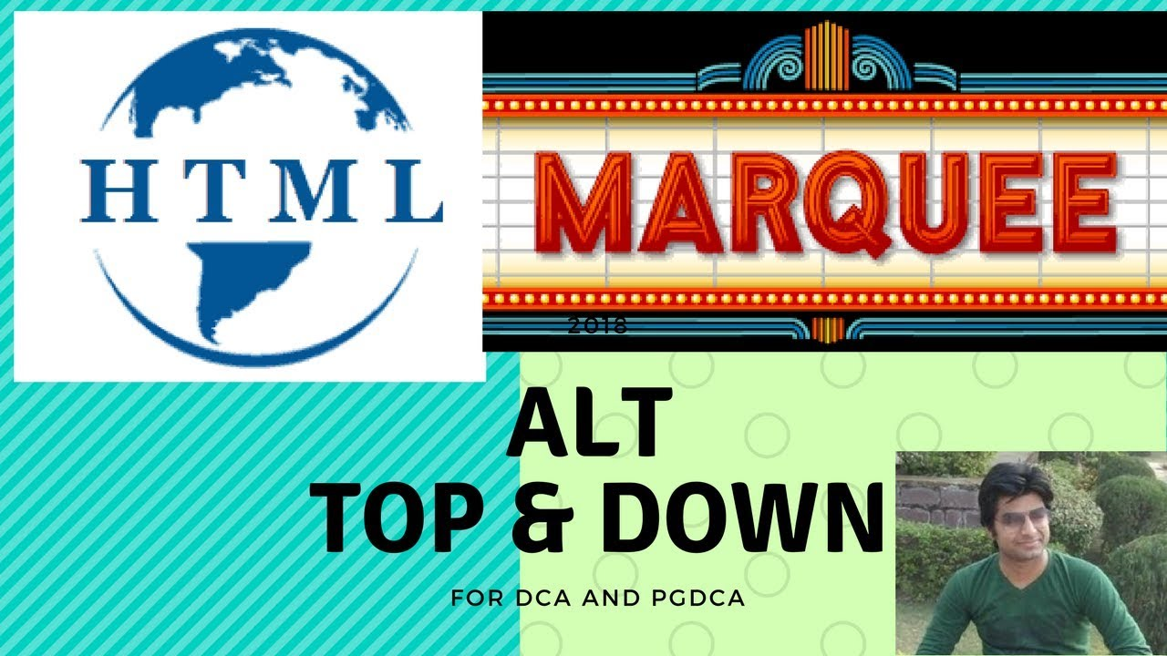 top & down marquee alternate attribute