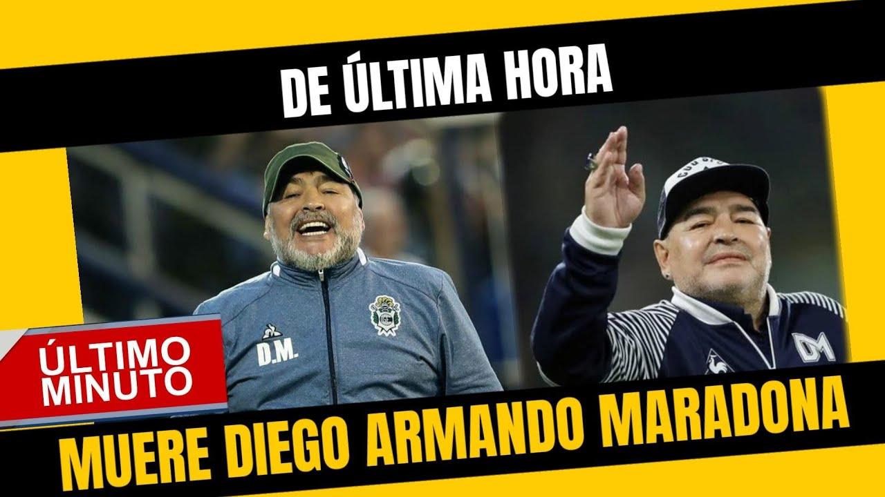 Muere Diego Armando Maradona en Argentina a los 60 años de edad.