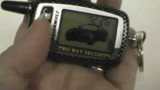Keyless Entry Two-Way Pager Car Alarm