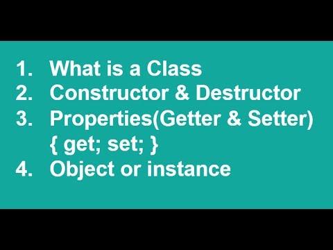 C# in Urdu/Hindi Class Constructor Destructor Properties(get set) Lecture9