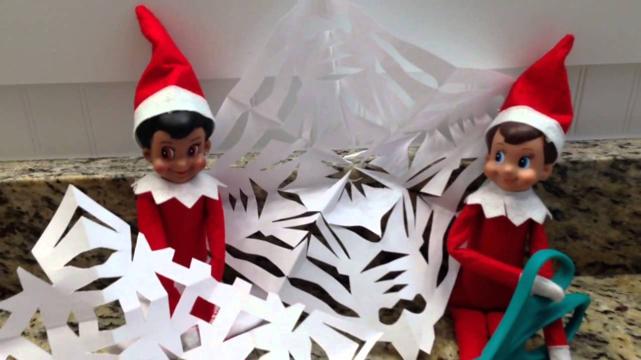 xmas day 7 my elf on the shelf caught making magical snowflakes