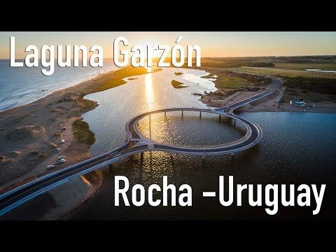Puente Inaugurado sobre Laguna Garzón   - Rocha Uruguay (4K) (drone,aereo,aerial)