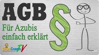 AGB (Allgemeine Geschäftsbedingungen) einfach erklärt - Prüfungswissen für Azubis ★ GripsCoachTV
