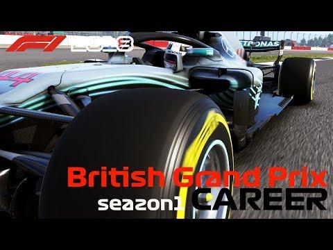 【F1 2018】ウルトラワイドモニターとドライバーカメラでキャリアモード! /  Season 1 Round 10 British Grand Prix