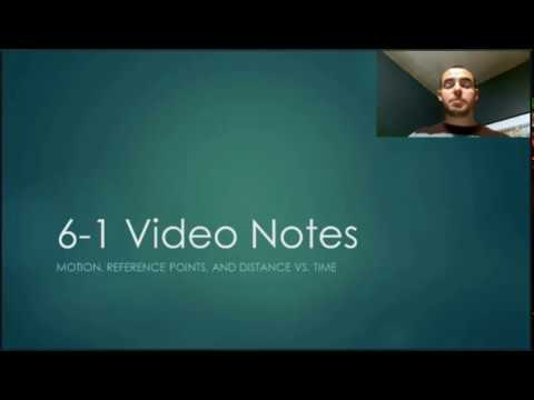 Ch.6 Part 1Video Notes: Motion, Reference Points, and Distance vs. Time