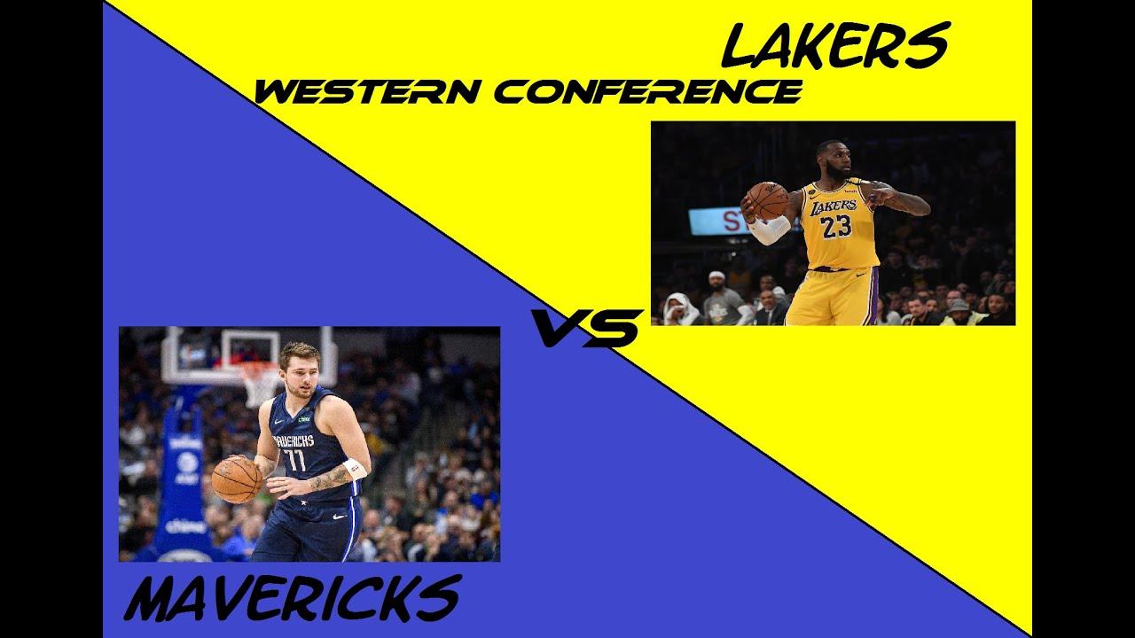 Mavericks vs Lakers Game 3 NBA Western Conference ...