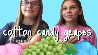 WE TRY COTTON CANDY GRAPES
