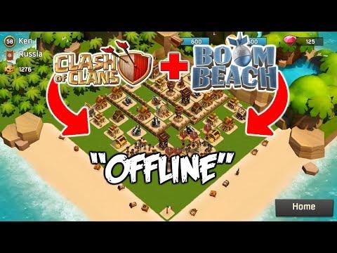 Perpaduan Antara CLASH OF CLANS Dan BOOM BEACH Offline - COC Indonesia