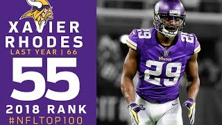 #55: Xavier Rhodes (CB, Vikings) | Top 100 Players of 2018 | NFL