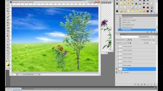 урок анимации движение деревьев и цветов