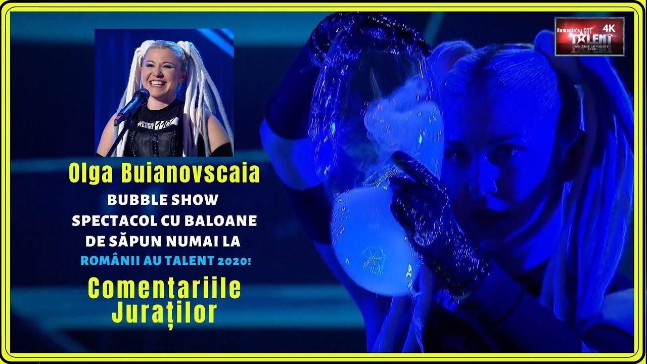 BUBBLE SHOW! Olga Buianovscaia | Spectacol cu baloane de săpun doar la Românii au Talent! 4K UHD