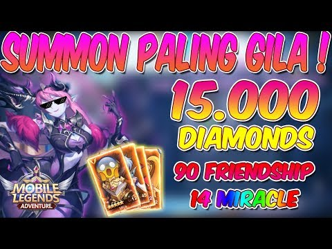 SUMMON PALING GILA! ABIS 15.000 DIAMONDS 14 MIRACLE SUMMON DAN 90 FRIENDSHIP POINT!!!