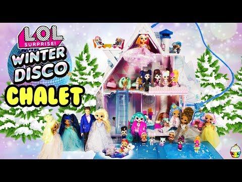 LOL Winter Disco Chalet House OMG Sister, DIY Big Sisters, Little Sisters Winter Disco Party