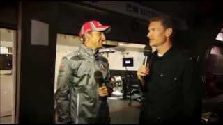 BBC F1: Jenson Button and Lewis Hamilton doing BBC F1 Broadcasting
