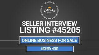 Online Business For Sale - $2.8K/month in the Security Niche