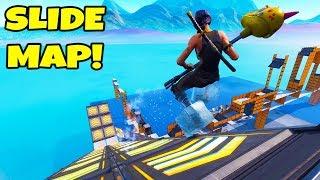 CIZZORZ SLIDE MAP CHALLENGE!! (Fortnite Creative Mode)