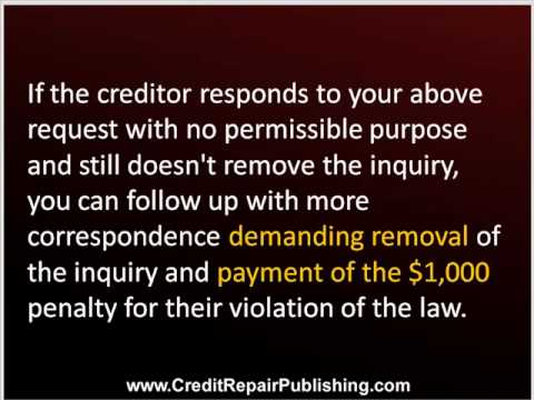 remove inquiries from credit report
