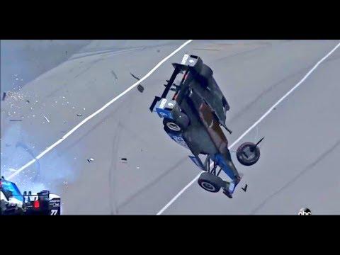 Horror Crash Scott Dixon 500 Miles Indianapolis 2017