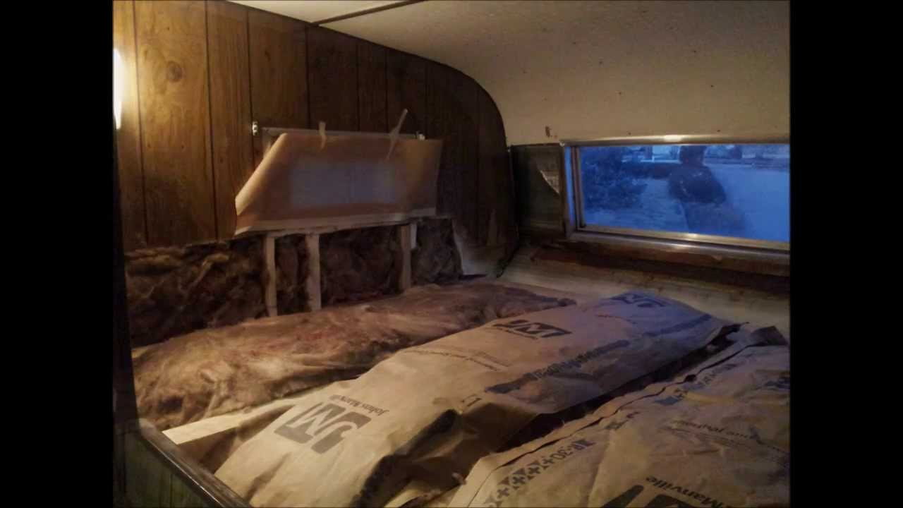 1978 Hallmark Truck Camper Project Re Framing Water