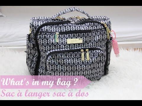 What S In My Bag Sac à Langer Ju Ju Be Youtube