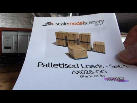 Building A Model Railway – Scenics (Palletised Box Wagon Loads)