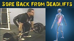 Back Soreness After Deadlifts