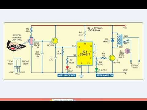 Remote control swich circuit diagram make it easy youtube remote control swich circuit diagram make it easy ccuart Choice Image