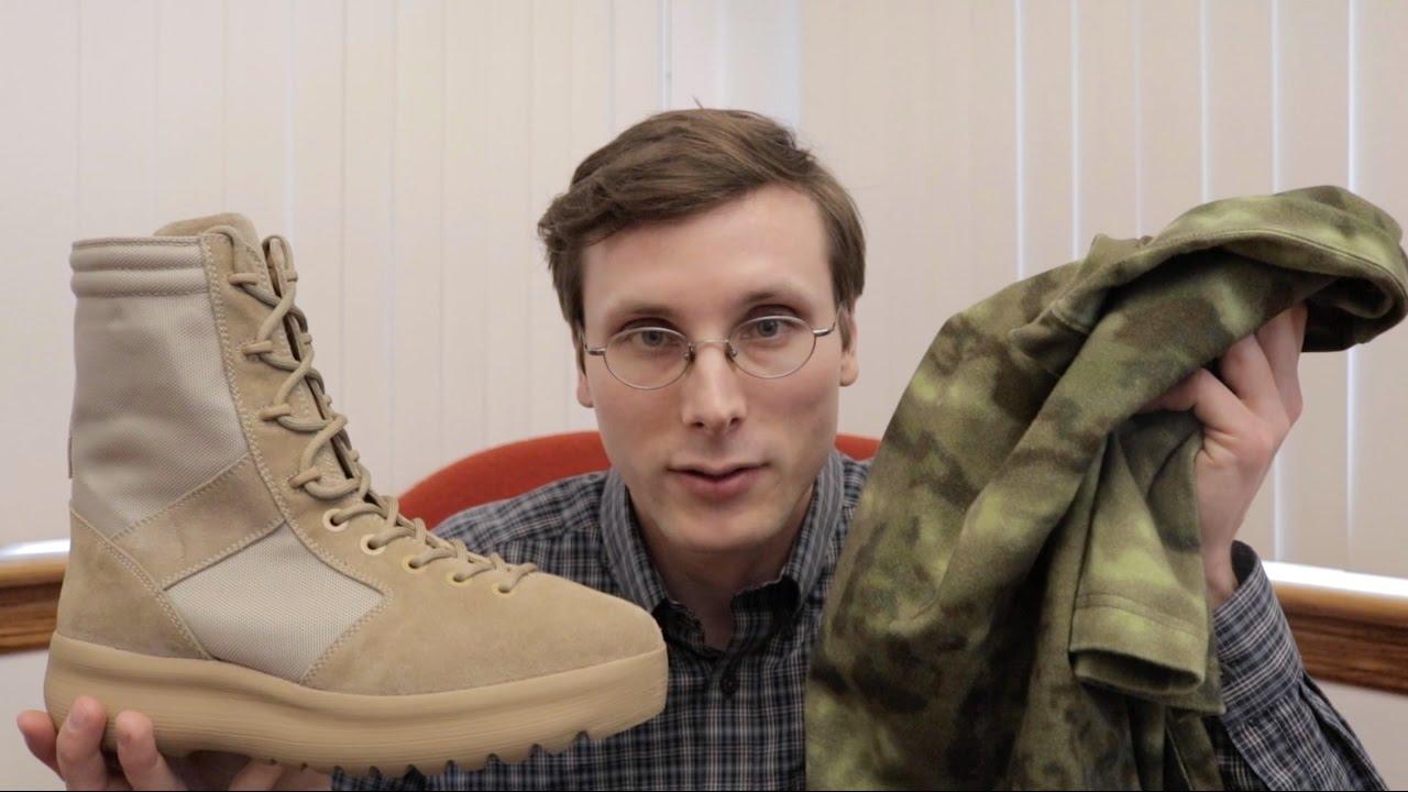 6ac32964f Yeezy Season 3 Military Boot and Camo Shirt Video - YouTube