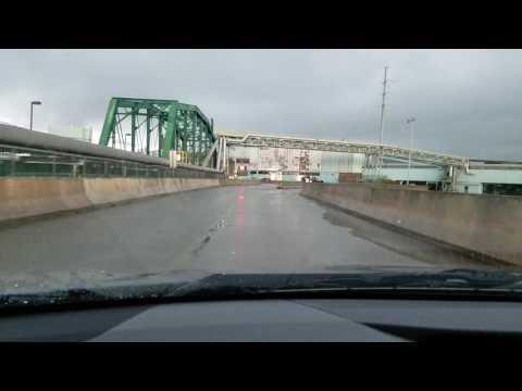 Crossing into Canada at international Falls