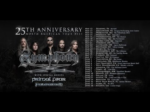 Symphony X announce 2021 25th Anniversary tour w/ Primal Fear and Firewind!