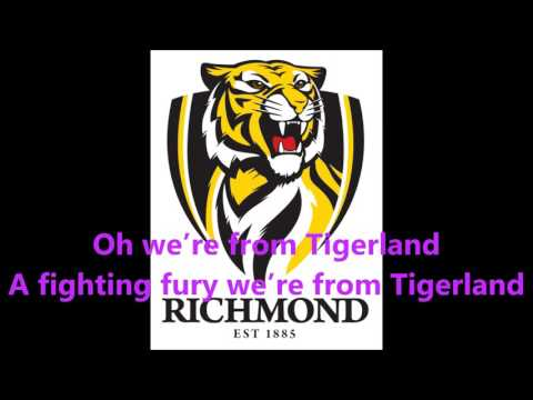 Richmond Tigers theme song (Lyrics) AFL Sing-A-Long