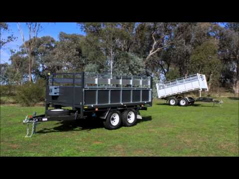 Tipping Trailers Double Fold Sides