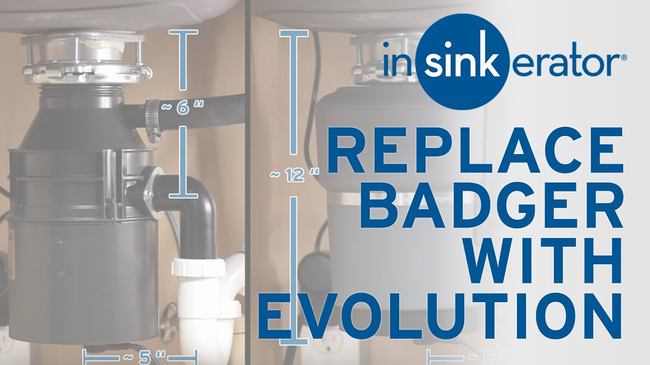 How To: Replace Badger Garbage Disposal with Evolution Compact - YouTube