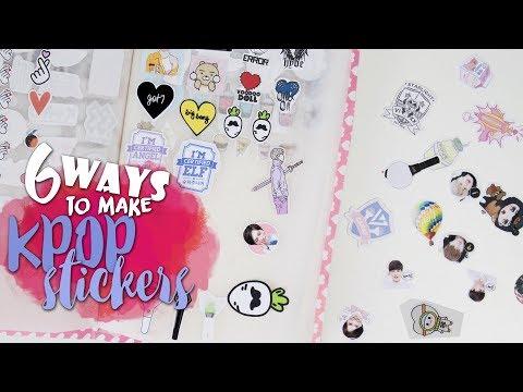 DIY KPOP: 6 ways to make KPOP STICKERS |K-freakEnglish| BTS, EXO, PRODUCE101, LOVELYZ,