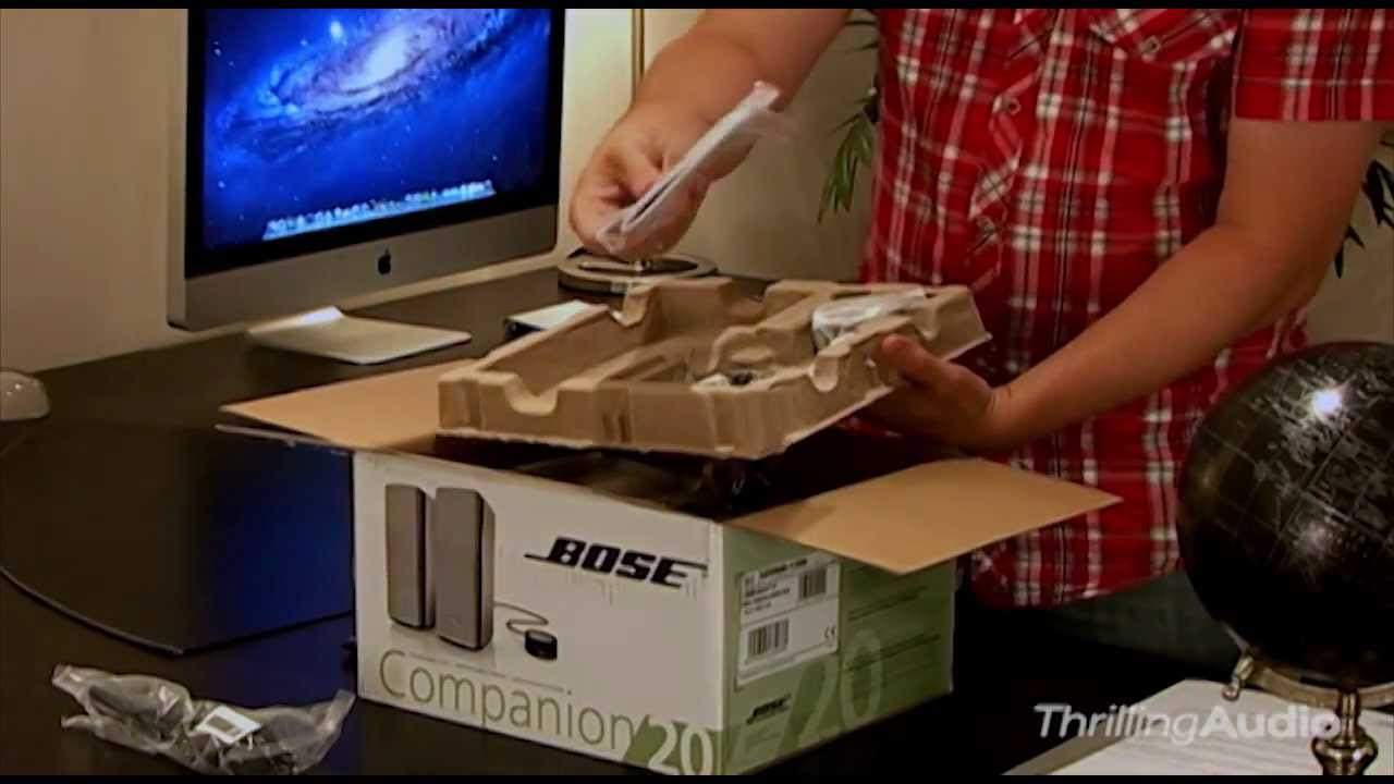 Bose Companion 20 Multimedia Speaker System Unpack And