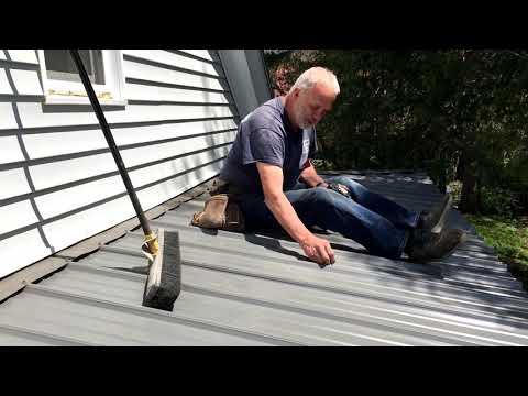Screwing metal roofing on flat or rib