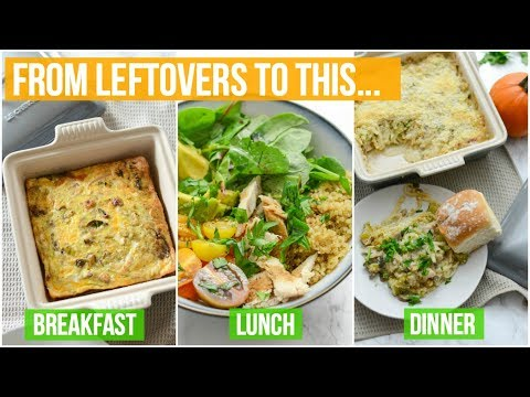 3 Healthy Thanksgiving/Holiday Leftover Recipes Idea | Easy and Delicious!