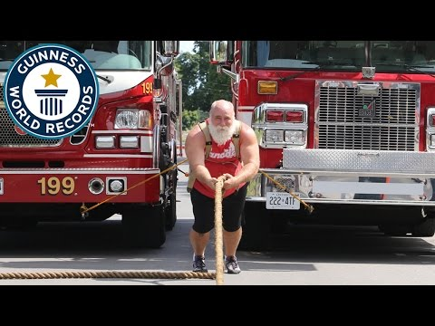Heaviest vehicle pulled - Guinness World Records