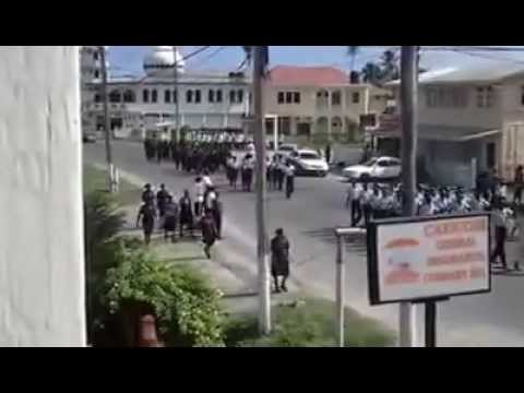 Poppy day parade in N/A Bce.Guyana.