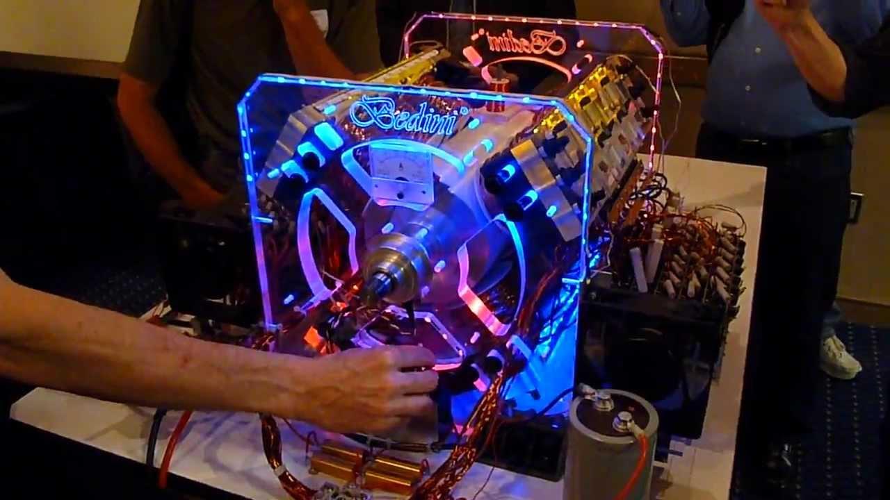 John Bedini 12 Coiler Energizer Lighted Kit Demo - YouTube